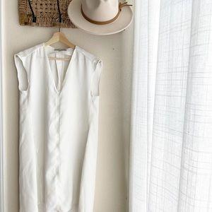 Larry Levin White Tunic Dress Size M